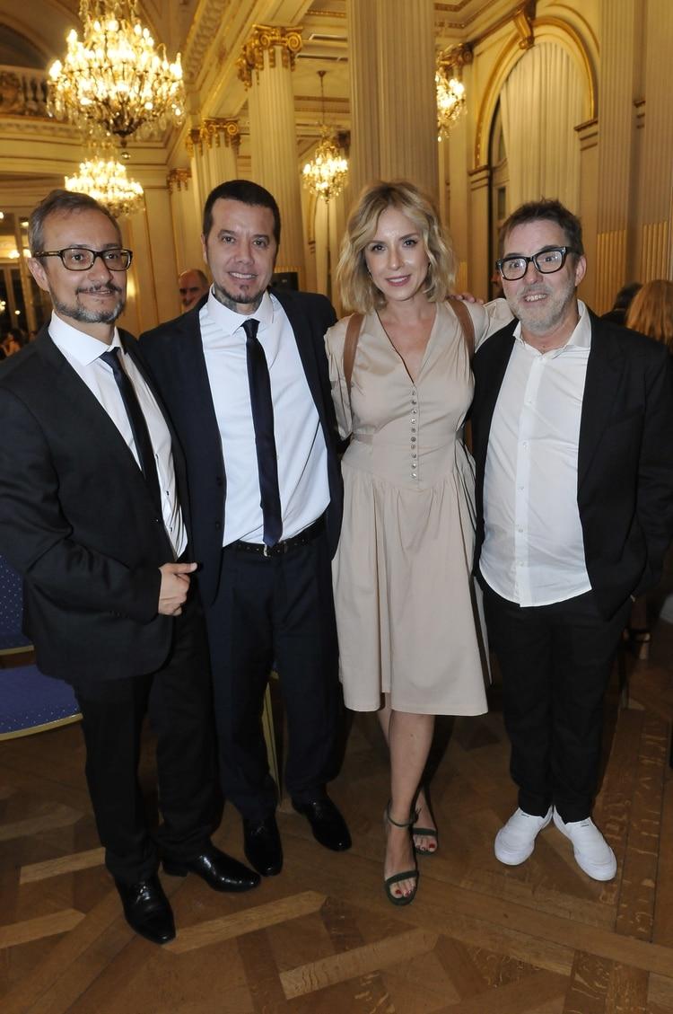 Pablo Culell, Sebastián Ortega, Carla Peterson y Max Urtizberea, en la Legislatura Porteña