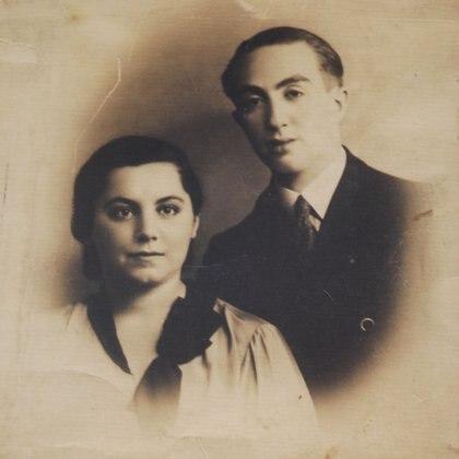 Najdorf y Genia, su primera mujer.