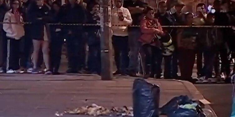 Bolsas con restos humanos halladas en la zona de Soacha, vecina a Bogotá, el pasado 16 de julio. (Captura de pantalla de CityTv noticias)