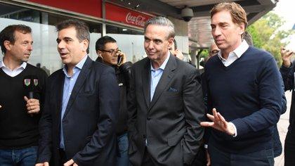 Cristian Ritondo, Miguel Pichetto y Diego Santilli