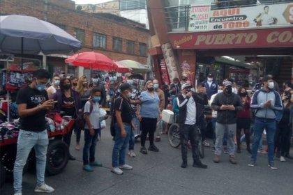 Manifestaciones en Suba, el pasado jueves 28 de enero. Foto: Twitter Heidy Sánchez.