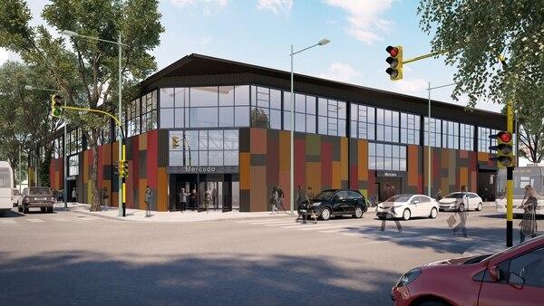 Así será la fachada del mercado que funcionará en el Barrio 31