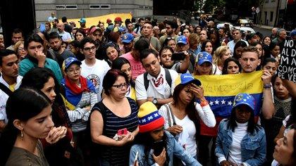 Protesta de venezolanos en Buenos Aires contra Nicolás Maduro (Nicolás Stulberg)