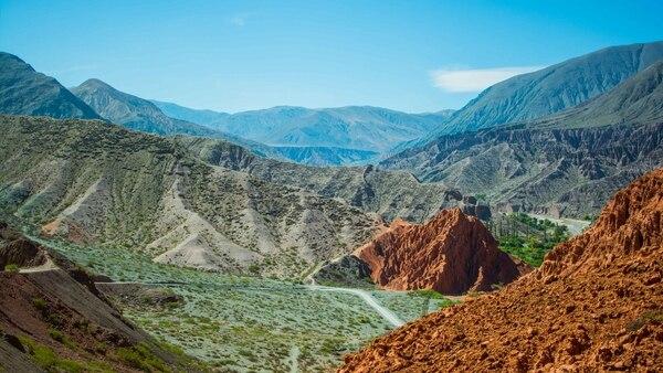Purmamarca, con el cerro de los Siete Colores
