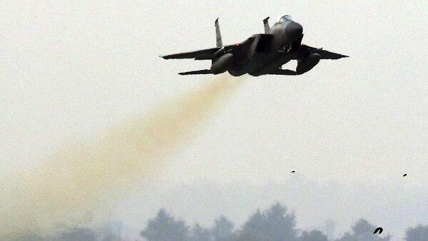 Un F-15 Eagle. Introducido en las unidades de caza en 1976, es uno de los cazas más antiguos que participaron de las maniobras, aunque gracias a las modernizaciones sigue siendo efectivo (AFP)