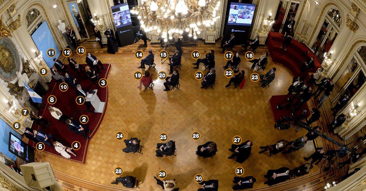Foto: quiénes acompañaron a Alberto Fernández en la presentación de la reforma judicial  - Infobae