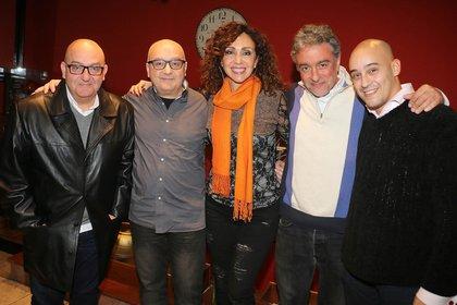 Mariano, Marcelo, Sabrina, Javier y Albertito (Crédito: Vero Guerman)