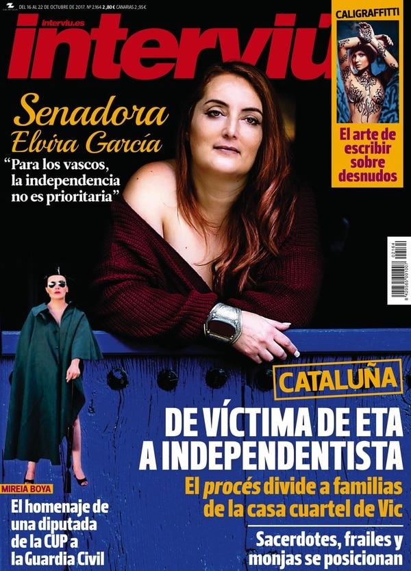 La tapa de la edición de octubre de la revista (Interviú)