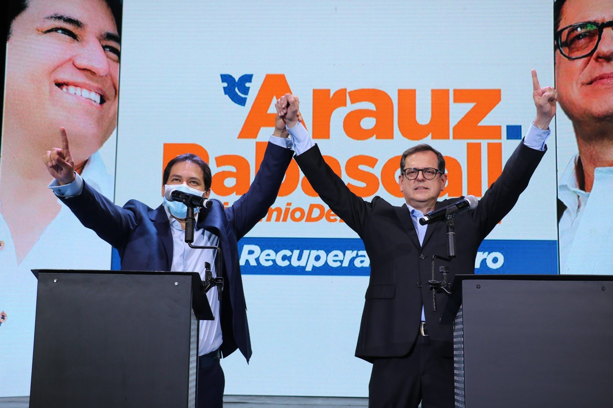 17/09/2020 Andrés Arauz y Carlos Rabascall, candidatos a presidente y vicepresidente de Ecuador, respectivamente, por el partido del expresidente Rafael Correa, Centro Democrático. POLITICA ESPAÑA EUROPA MADRID INTERNACIONAL TWITTER ANDRÉS ARAUZ (@ECUARAUZ)