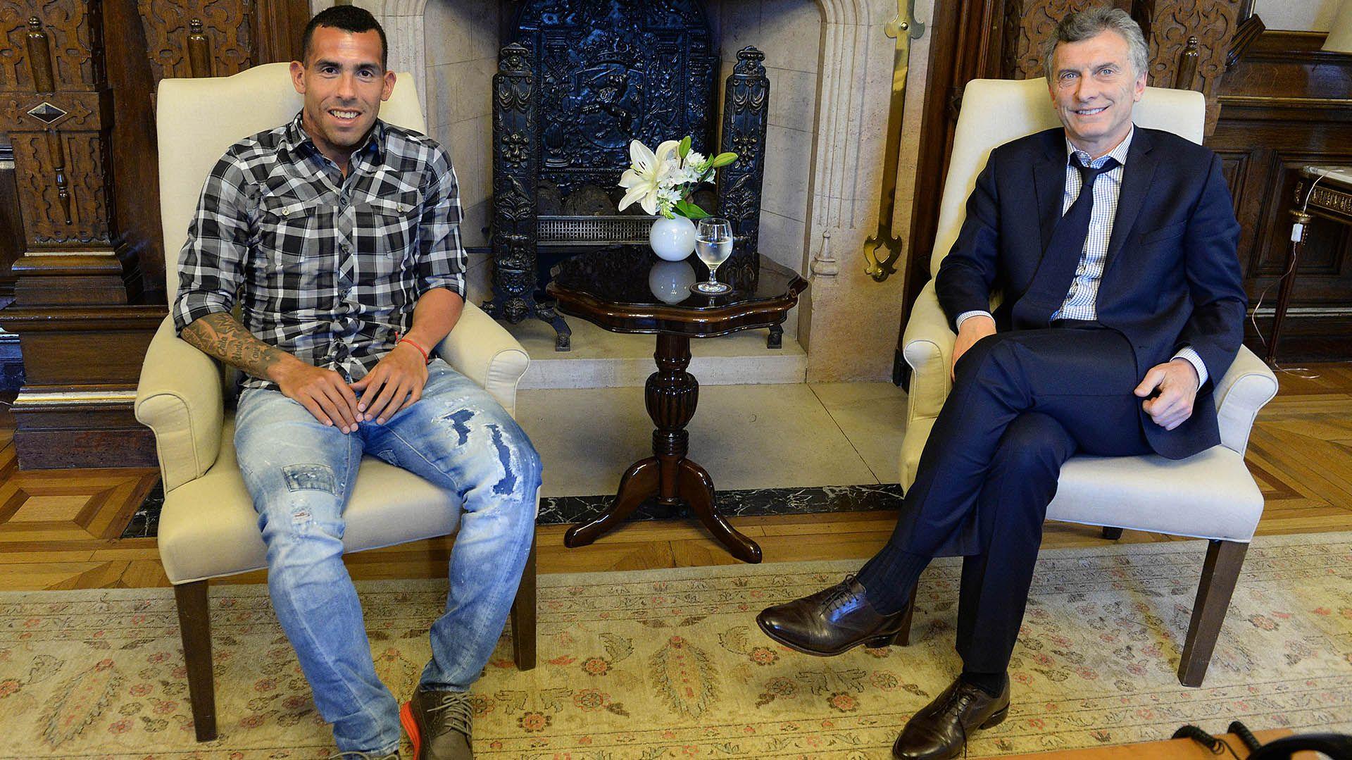 El Apache supo visitar a Macri en la Casa Rosada durante su mandato presidencial (Presidencia)