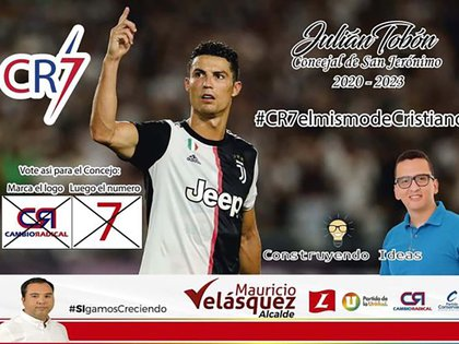Ni Cristiano Ronaldo se salvó de que usaran su imagen para publicidad política.