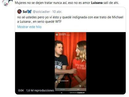 La indignación en las redes por las actitudes de Bublé con Lopilato (Fotos: Twitter)