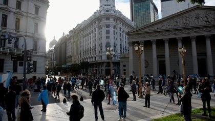 Los manifestantes reclamaron el fin del aislamiento social preventivo y obligatorio