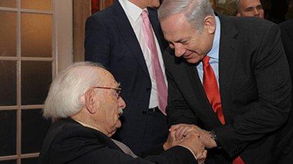 El primer ministro Netanyahu con Van Hulst