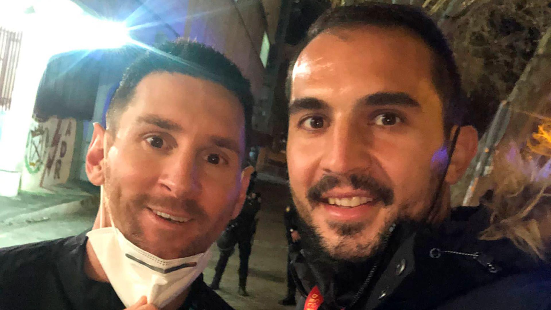 Lionel Messi y Emiliano Armenteros