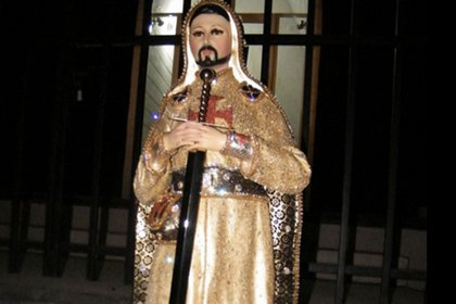 Nazario Moreno convertido en santo. (Foto: net1news.org)