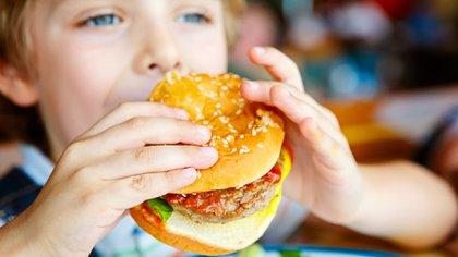 Según la OMS, la causa de la obesidad infantil no se centra únicamente en comidas inadecuadas (Getty)