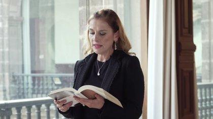 Beatriz Gutiérrez Müller lamentó la negativa de Austria a devolver penacho de Moctezuma (Foto: captura de pantalla)