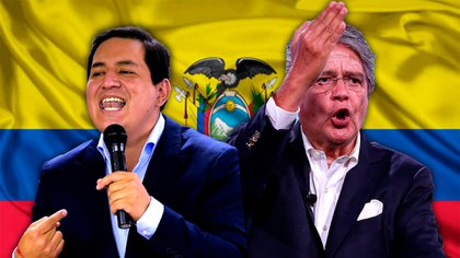 Andres Arauz y Guillermo Lasso disputan este domingo el ballotage presidencial en Ecuador