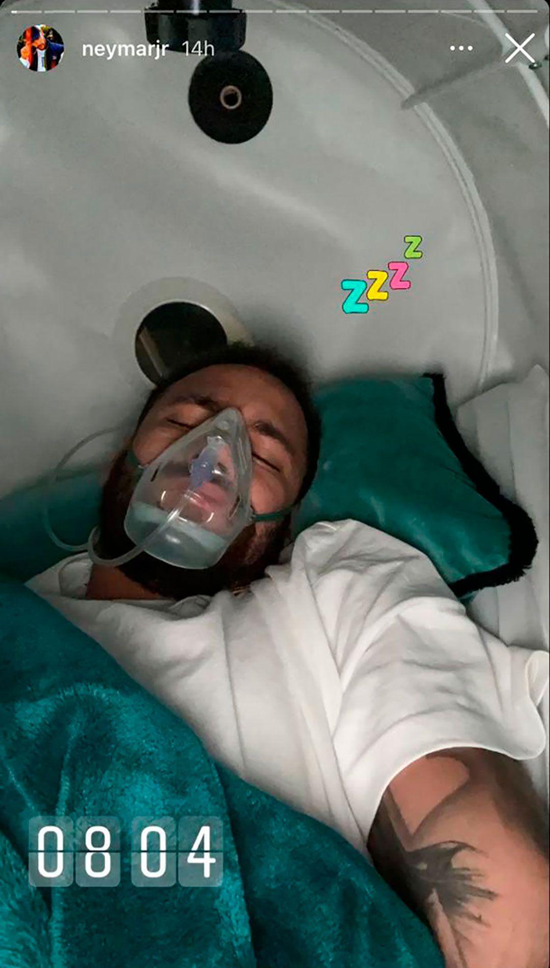 Icardi y Neymar respirador PSG
