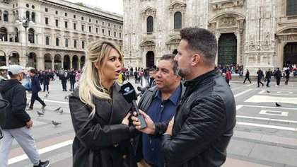"""Diego Pérez y José María Listorti viajaron a Milán para hacer """"El Insoportable"""" con Wanda Nara"""