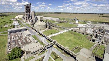 Vista aérea de la planta de Loma Negra en Olavarría