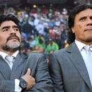EDITORIAL USE ONLY Mandatory Credit: Photo by Chris Brunskill/Shutterstock (8546567at) Argentina Manager Diego Maradona South Africa Cape Town Argentina V Germany - 03 Jul 2010