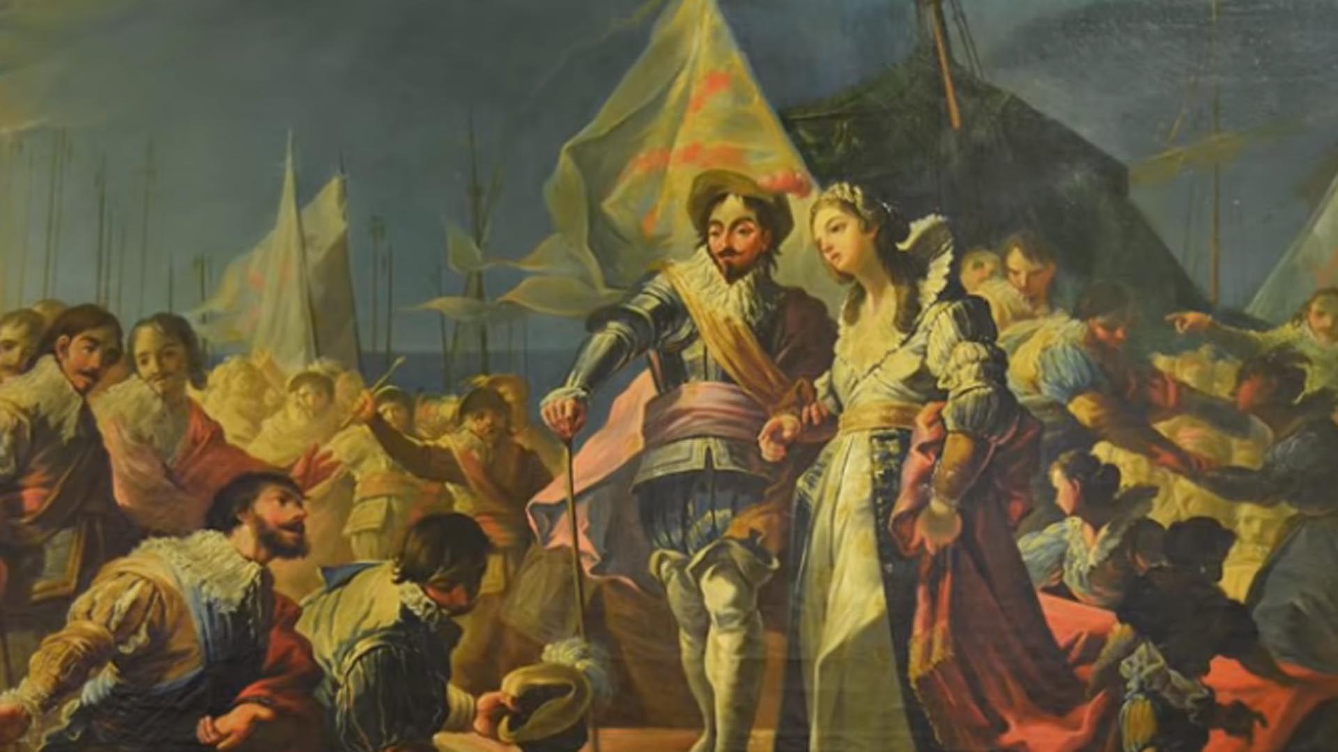 Fernando el Católico y su futura segunda esposa, la francesa Germana de Foix, llegan a Cataluña