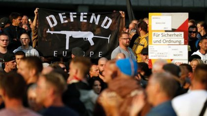 Manifestación nacionalista en Alemania (Foto: AFP)