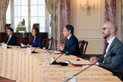 La reunión bilateral se llevó a cabo la mañana de este viernes Foto: (Manuel Balce Ceneta/REUTERS)