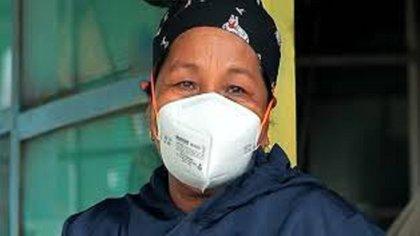 Ella es Amalia Rosa Matapí, primera mujer que recibirá vacuna contra covid-19 en Amazonas. Cortesía Noticias Caracol