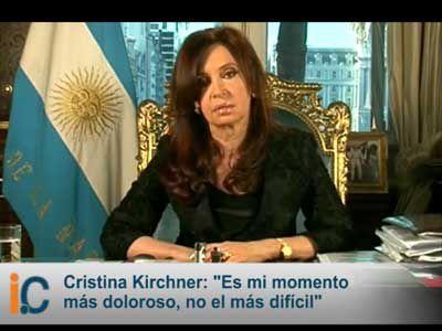 El 1° de por cadena nacional Cristina Fernández agradeció las muestras de apoyo por la muerte de su marido