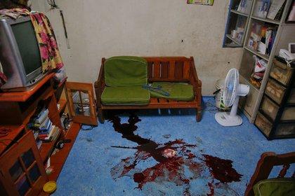 """Norberto Maderal fue asesinado en esta sala por la policía, que dijo que la víctima había sacado una pistola e """"intentó abrir fuego"""" durante una operación contra el narcotráfico (Reuters)"""