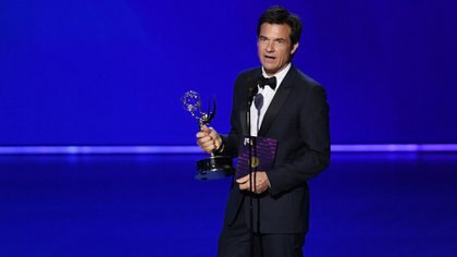 LOS ANGELES, CALIFORNIA - SEPTEMBER 22: Jason Bateman accepts the Outstanding Directing for a Drama Series award for 'Ozark' onstage during the 71st Emmy Awards at Microsoft Theater on September 22, 2019 in Los Angeles, California.   Kevin Winter/Getty Images/AFP