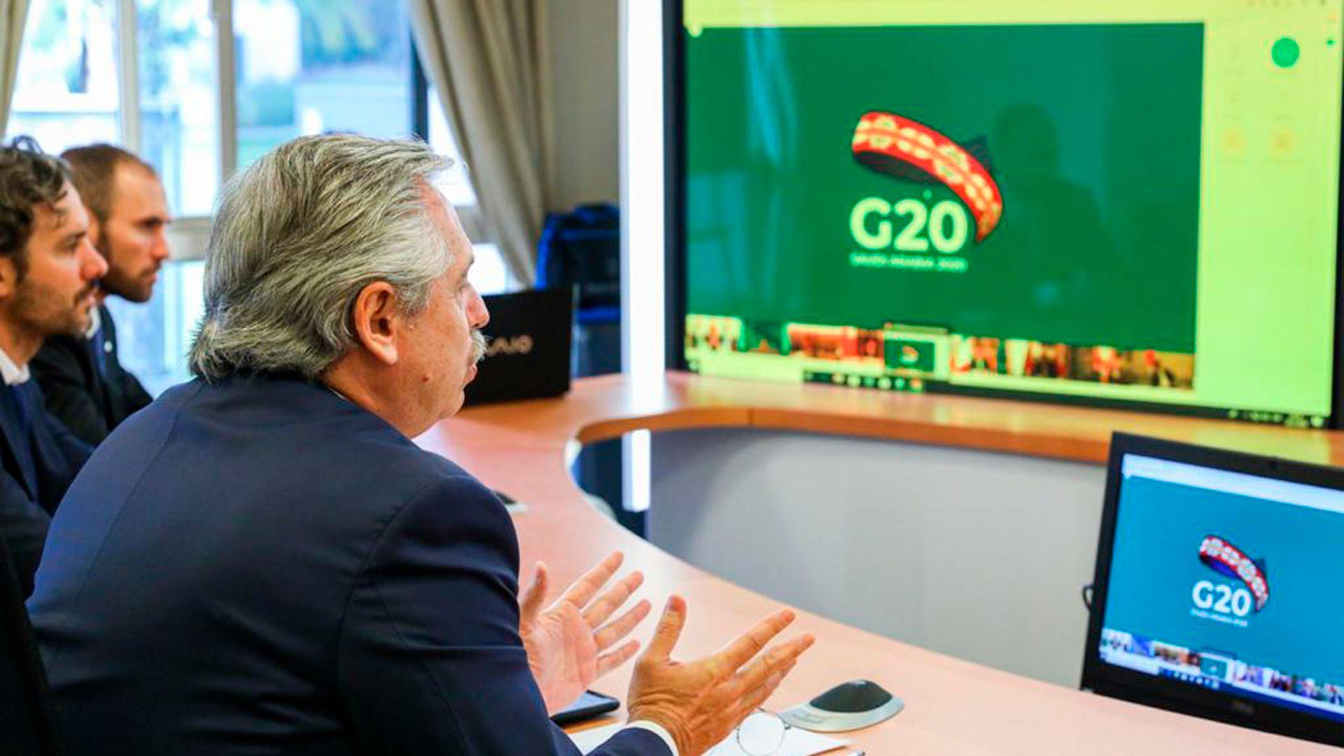 alberto-fernandez-lideres-del-G20-videoconferencia