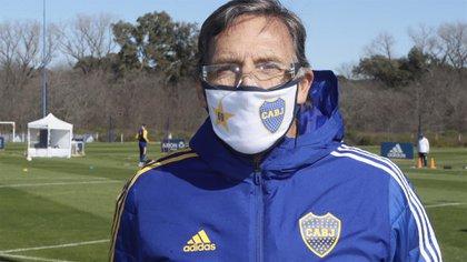 Miguel Ángel Russo dio negativo el test de coronavirus y quedó resguardado en su hogar (Boca oficial)