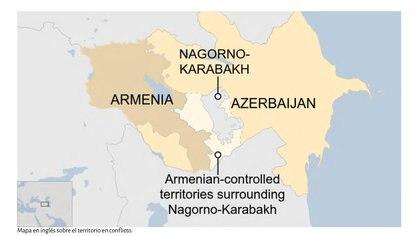 Mapa sobre el territorio en conflicto