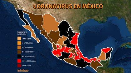 Mapa del coronavirus en México 29 de junio Ilustración: Jovani Pérez