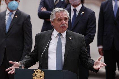 En la imagen, el presidente de Argentina, Alberto Fernández. EFE/Alberto Valdés/Archivo