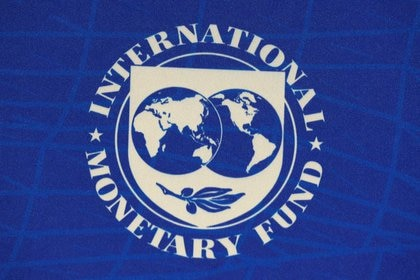El logotipo del Fondo Monetario Internacional (FMI) se ve durante una conferencia de prensa en Santiago, Chile, el 23 de julio de 2019. REUTERS / Rodrigo Garrido / Foto de archivo