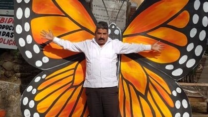 Antes de ser asesinado, Homero Gómez fungía como comisariado ejidal del santuario El Rosario (Foto: Facebook)