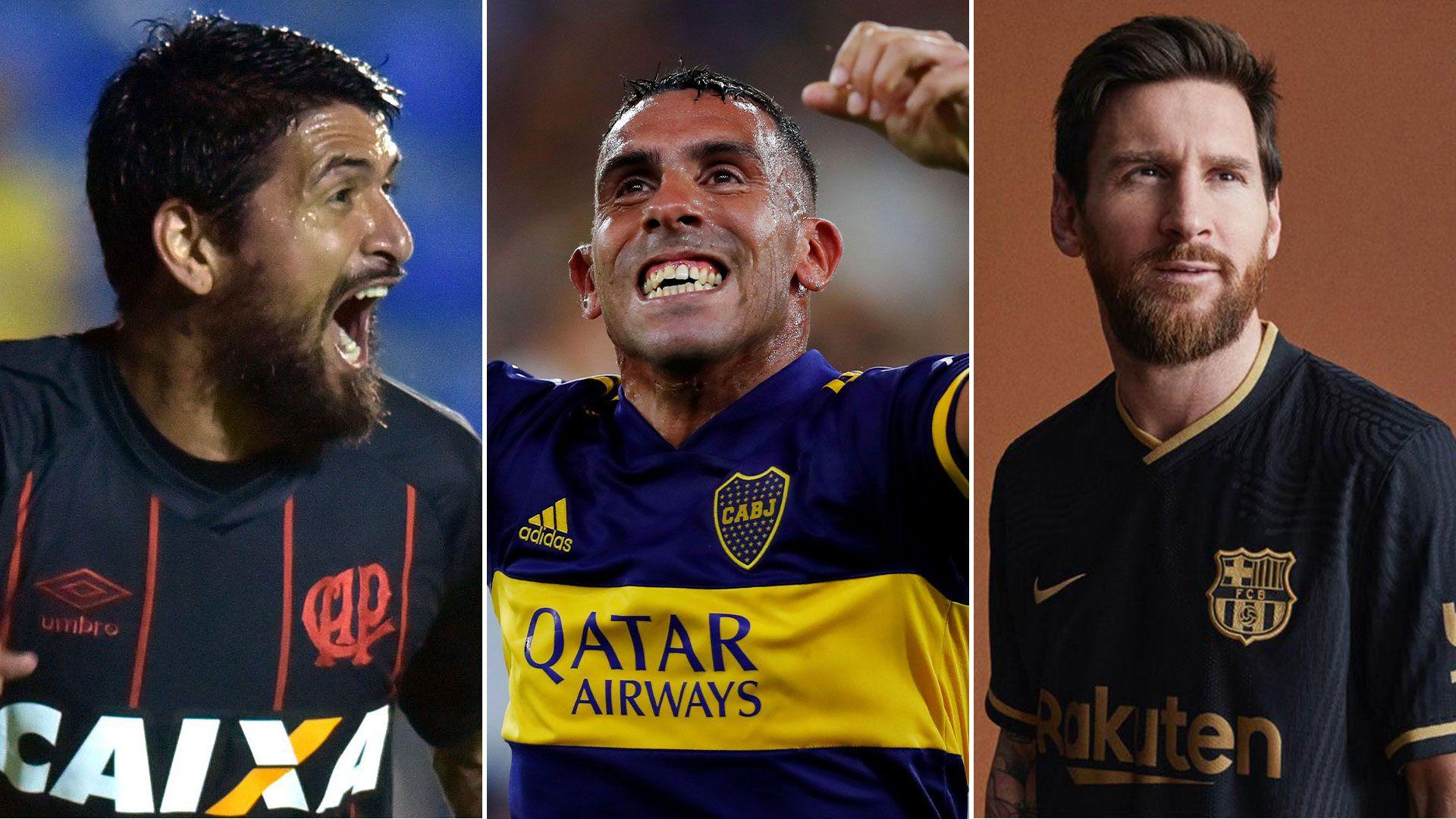 Lucho González, Carlos Tevez y Lionel Messi, los argentinos más ganadores de la historia