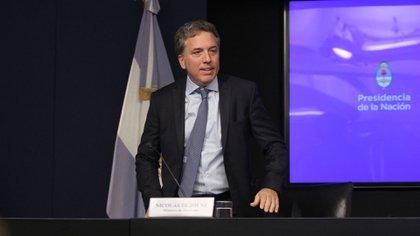 El ministro en la conferencia de prensa de este viernes (Matías Baglietto)