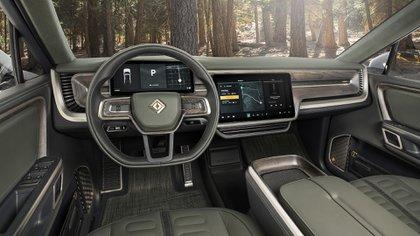 El interior de la pick de Rivian, el fabricante que en EE.UU. le hace frente a Tesla