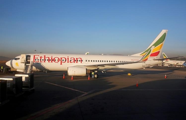 Un Boeing 737-800 de la misma aerolínea en el aeropuerto de Adís Adeba (Reuters)