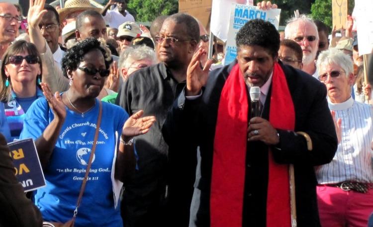 El reverendo William Barber II retomó la Campaña por los Pobres de Martin Luther King Jr. (Wikimedia Commons)