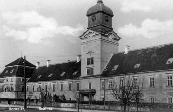 El castillo de Rechnitz donde ocurrió la matanza