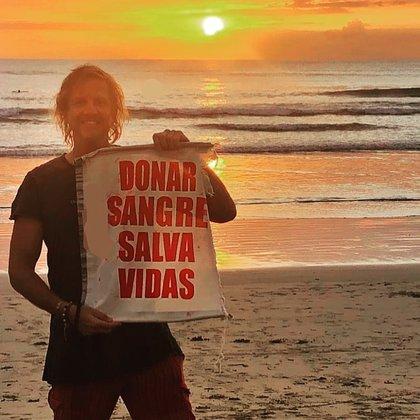 Hace muchos años que Facundo Arana realiza campañas de donación