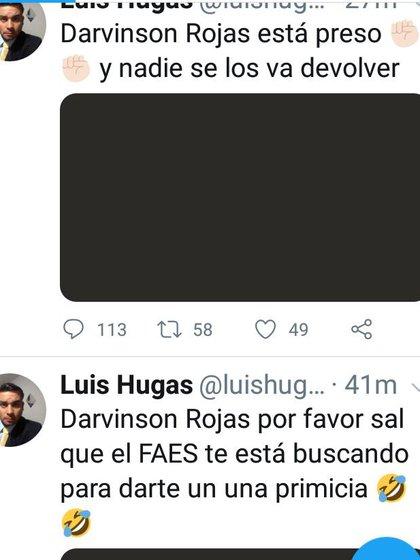 Hugas confirmó que Rojas fue llevado preso