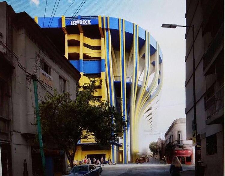 Así quedaría la zona exterior de los palcos de la Bombonera, según el Proyecto Esloveno
